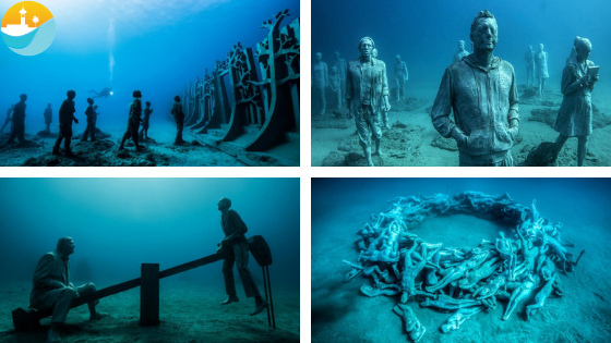 Museo Atlantico Lanzarote.The First Underwater Museum In Europe Is In Lanzarote Museo